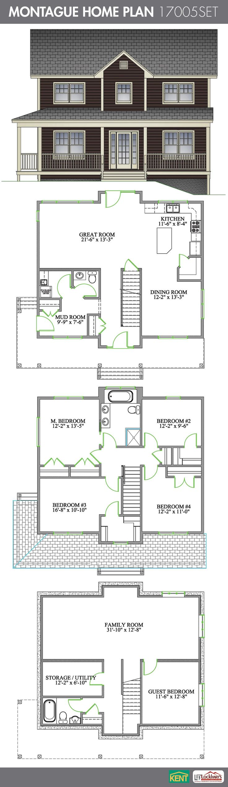 Montague 5 Bedroom 2 1 2 Bathroom Home Plan The Main