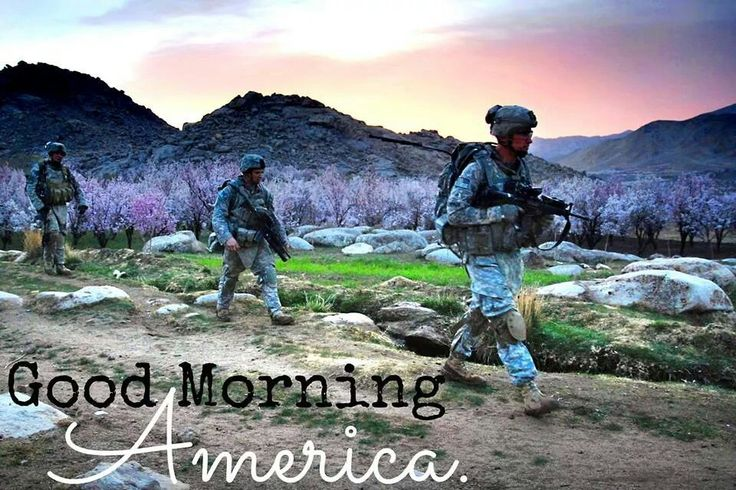 Good morning America!  How's your day going so far?