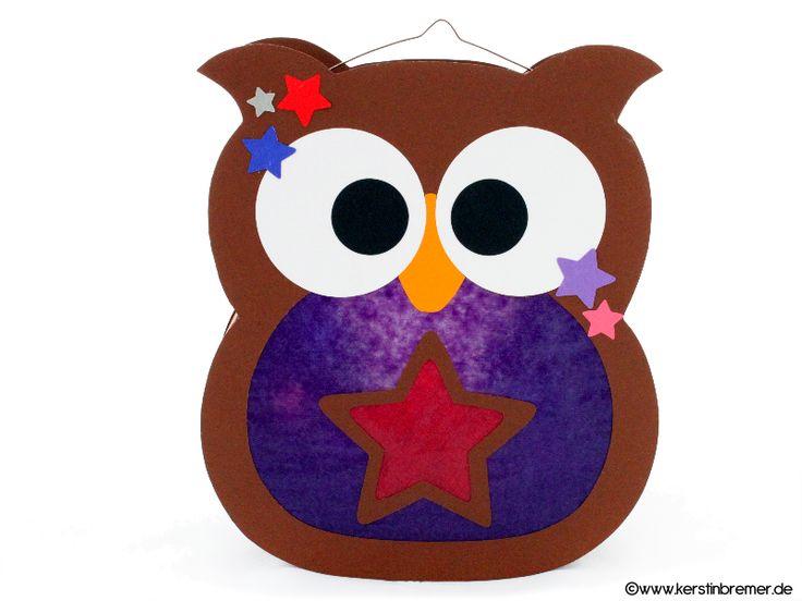 Eulen Sterne Laterne für den Schneideplotter ♥ von kerstinbremer.de. So awesome! Star owl lantern ♥ #cutfile #svg #diy