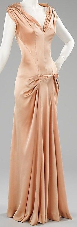 40s pink peach satin gown dress Charles James Dress - 1945 - by Charles James (American, born Great Britain, 1906-1978) - Silk - The Metropolitan Museum of Art