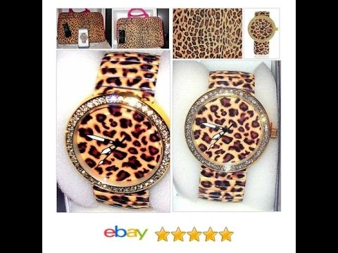 Leopard Print Watch Stretchable Band with Matching Travel Bag MOTHERS DAY | eBay #Dres #Strada #Formal http://www.ebay.com/itm/Leopard-Print-Watch-Austrian-Crystal-Stretchable-Band-USA-SELLER-/222475119082?