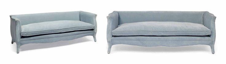 A Pair Of Light Blue Velvet Sofas Home Decor Design