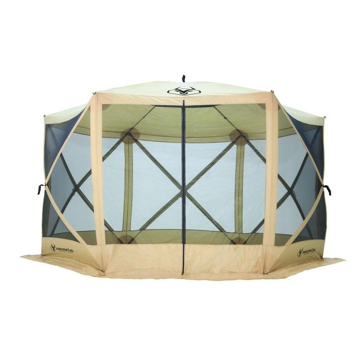 7 ft. Tall Heavy Duty 6-Sided Portable Gazebo with 8-Person Capacity, Beige/Ivory