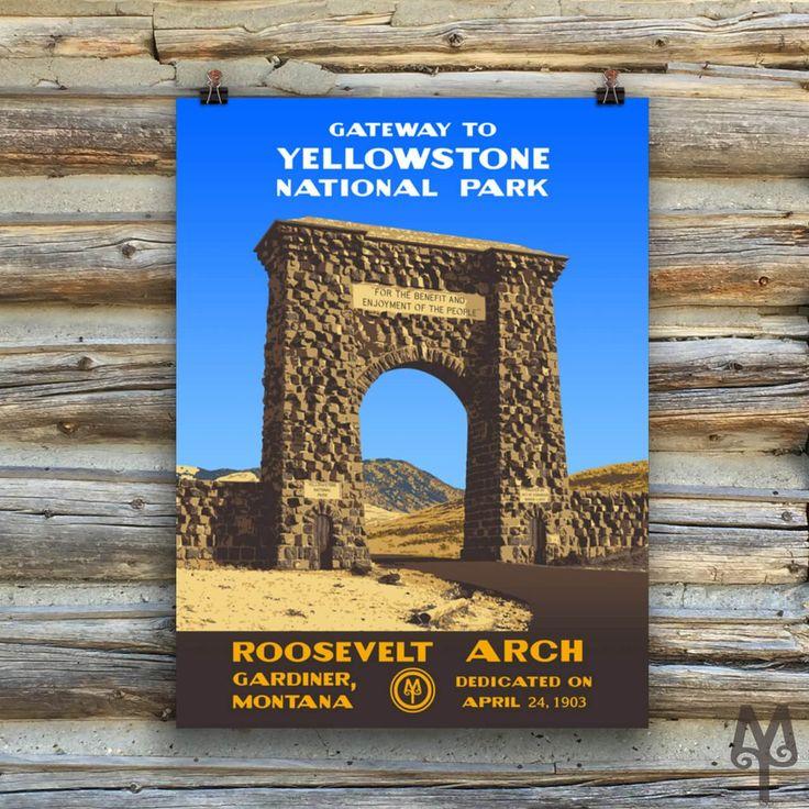 YNP Roosevelt Arch, unframed poster
