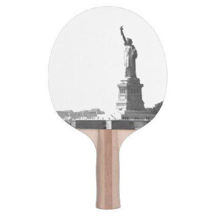 Vintage Photo Liberty Statue Patriotism Theme Ping Pong Paddle - photos gifts image diy customize gift idea