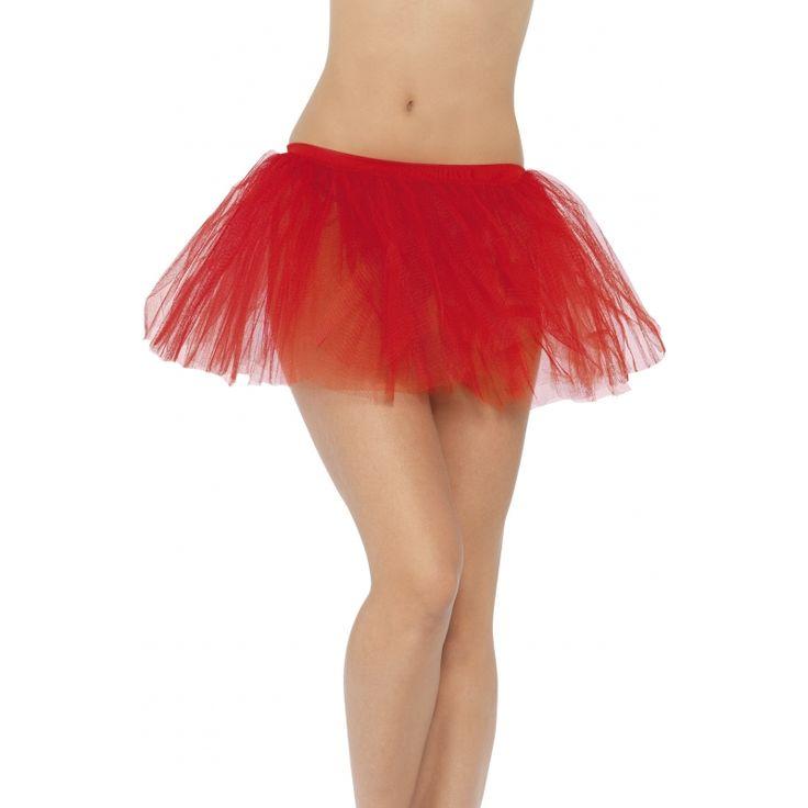 Rood onderrokje dames  Tutu onderrok in de kleur rood voor dames. Deze tutu onderrok kan gebruikt worden onder een rok of als ballet tutu. Maat: one size.  EUR 9.95  Meer informatie