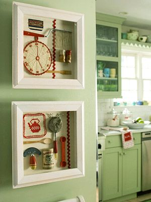 kitchen chic shadowboxes  time to finish up at least one project I have started