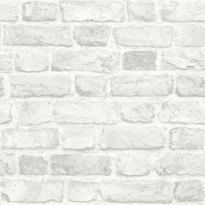 Battersea Brick Wall Effect Wallpaper White Ilw3203 Brick Wall Wallpaper Brick Wallpaper Bedroom Brick Wallpaper