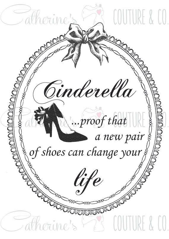 Illustrazione stampabile Cinderella di CatherineMinio su Etsy, €4.00