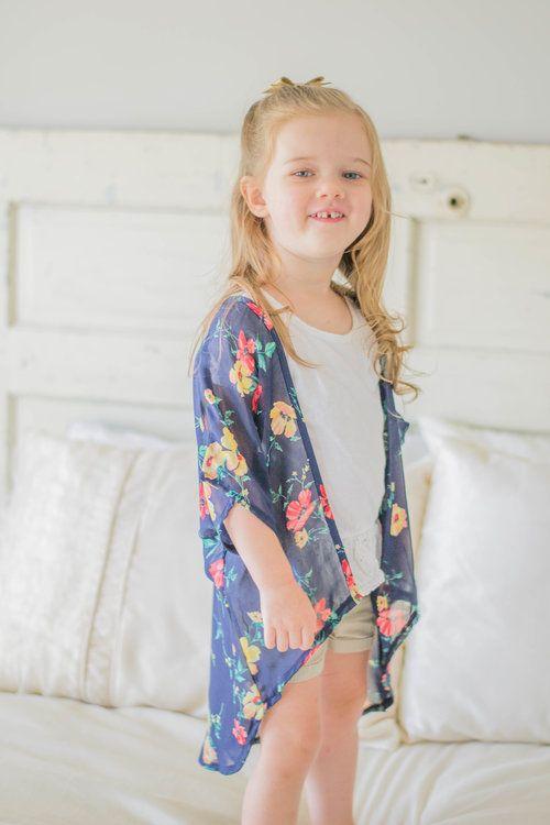 Adorable floral toddler kimono
