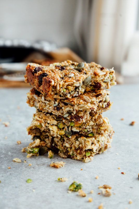 Protein Breakfast Bars (Vegan + Paleo) - Wallflower Kitchen