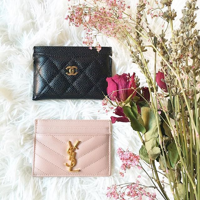 competitive price 802b1 35331 Battle of the card holders YSL or Chanel? #ysl #chanel #cardholder ...