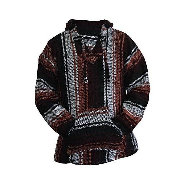 Amazon.com: Mexican Baja Hoodie Sweater Jerga Pullover Burgundy Rust... ($24) ❤ liked on Polyvore featuring tops, hoodies, burgundy top, hooded sweatshirt, pullover hooded sweatshirt, hooded pullover and burgundy hoodie