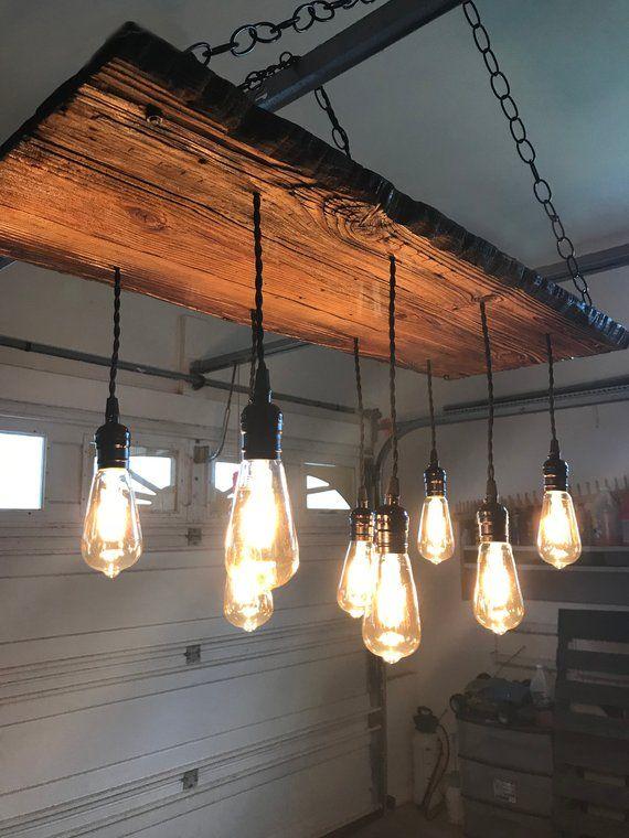Reclaimed Wood Chandelier In 2019 Pendant Light