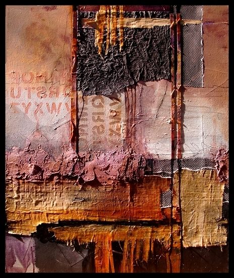 Headlines, 12016 by Carol Nelson - mixed media on canvas 30 x 24