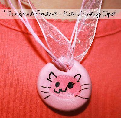 Katie's Nesting Spot: Summer Day Camp Project #4: Thumbprint Pendants