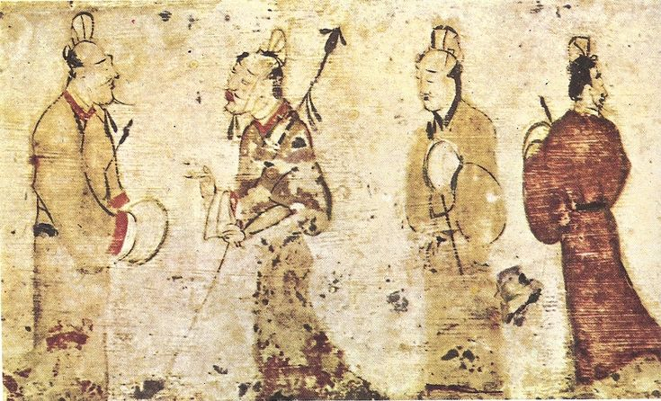 Gentlemen in conversation, Eastern Han Dynasty - History of painting - Wikipedia, the free encyclopedia