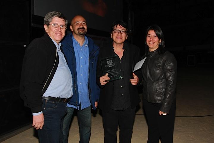 Antonio Dorado y Adelfa Martínez, e invitados, en la clausura de la Semana del Cine Colombiano. Crédito Miltón Ramírez @FOTOMILTON / MinCultura 2012