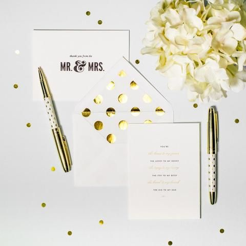 """We're always making excuses to handwrite cards, to-do lists and love notes, now that we're armed with this elegant #KateSpade pen. Subtly shimmery and topped with signature statements, they add personality to any pencil cup. And to top of it off, each pen comes with its own keepsake box that holds the quote """"she wrote her own happily ever after"""" on the front. Available at #shoprubyfrank."""