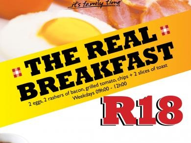 Mikes Kitchen N1 City - The Real Breakfast only R18