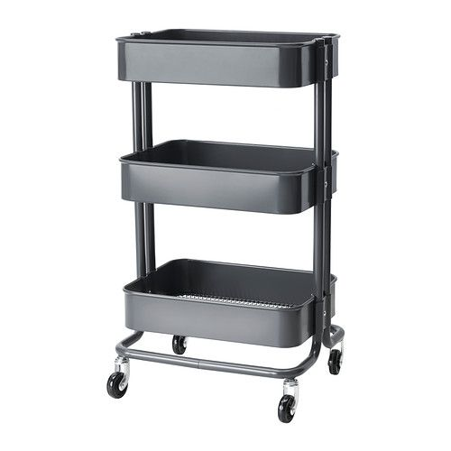 Affordable IKEA finds for easy home decorating ideas at @Stylecaster | Raskog Utility Cart, $29.99