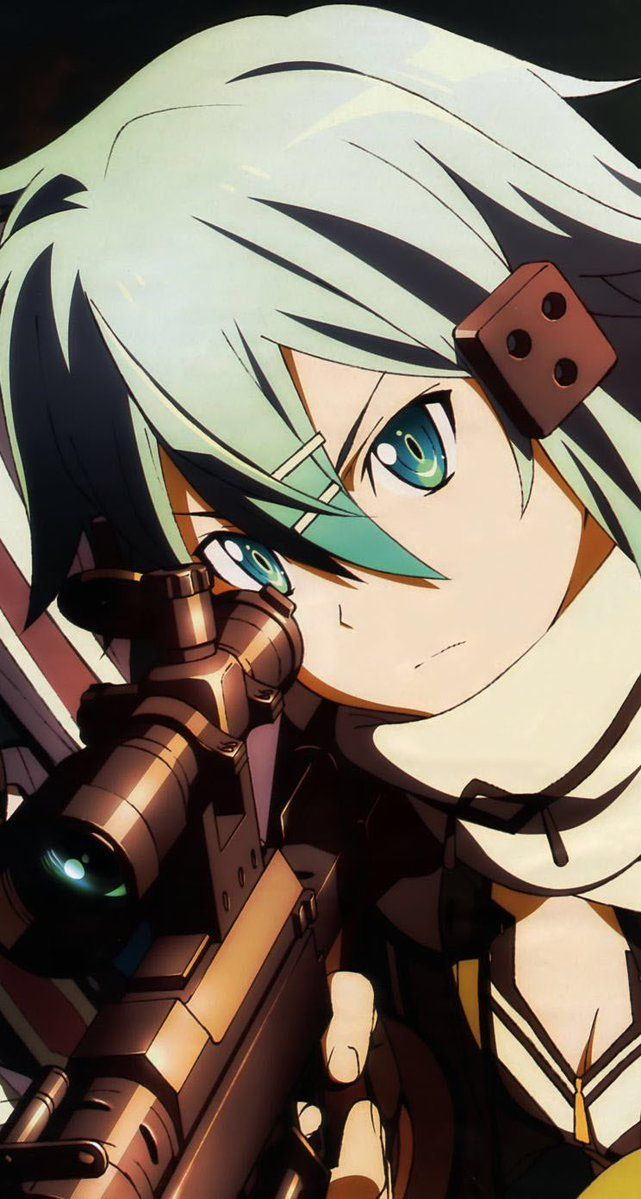 Sinon ♥ alias Asada Shino Sword Paintings On-line  [ GGO ]