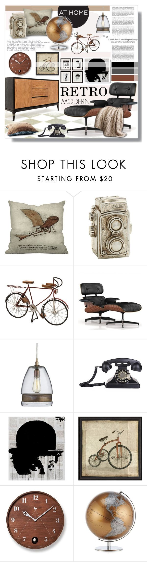 """""""Untitled #678"""" by valentina1 on Polyvore featuring interior, interiors, interior design, дом, home decor, interior decorating, Dot & Bo, Herman Miller, Crate and Barrel и Eichholtz"""