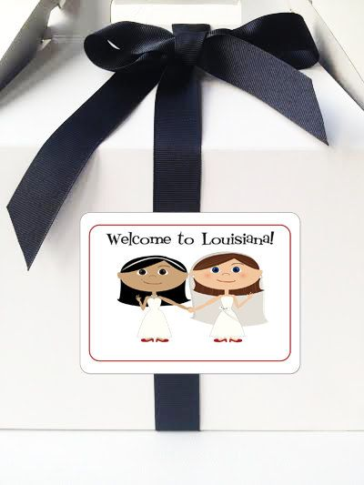 Lesbian Wedding Welcome Bag Stickers Welcome Bag by 76thStreetInk