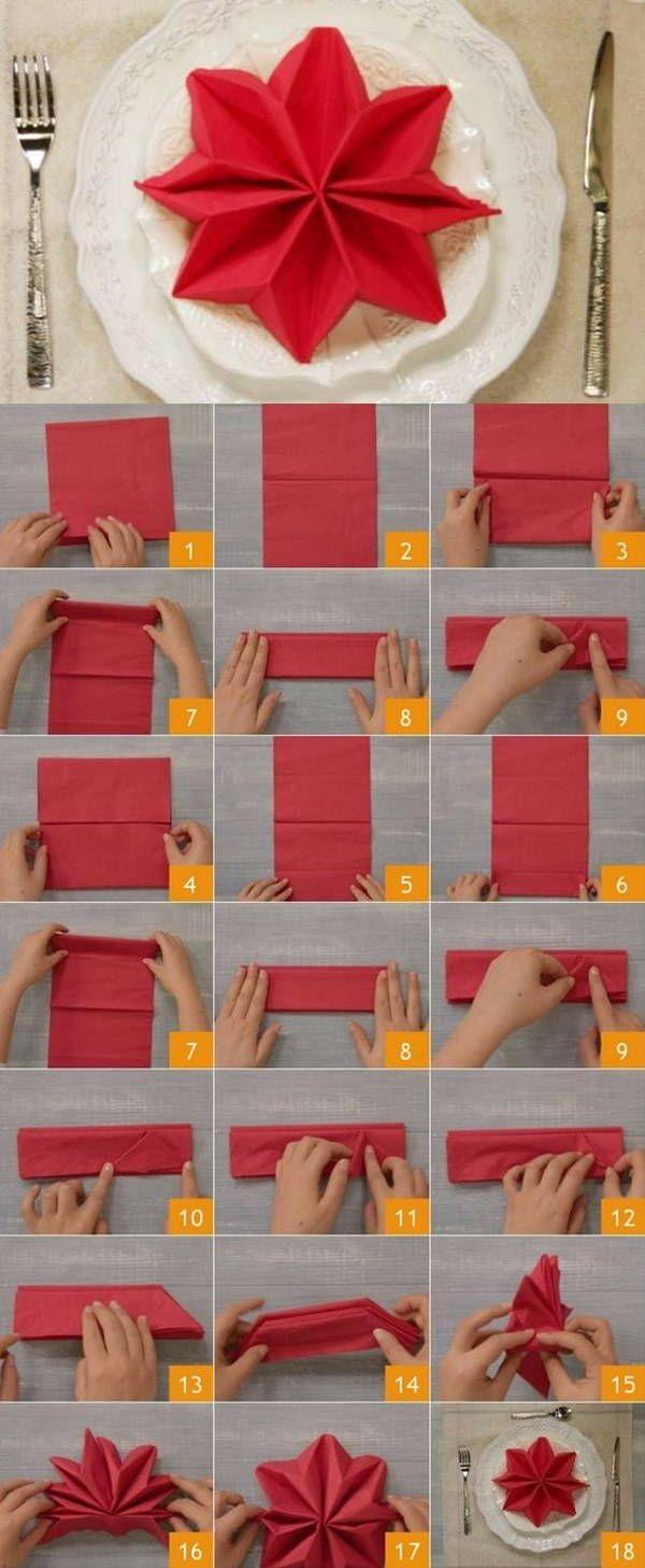 10 straordinarie (ma facili) idee per piegare i tovaglioli a Natale -  greenMe f09843a57366