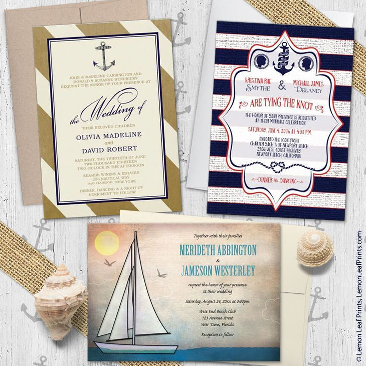 muslim wedding card invitation quotes%0A Sailing or Nautical Wedding Invitations