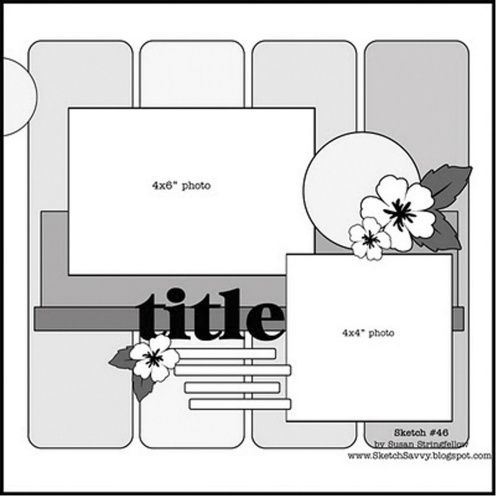 Free Scrapbook Layout Templates | Everyone was asked to model their layout after this template. I was so ...