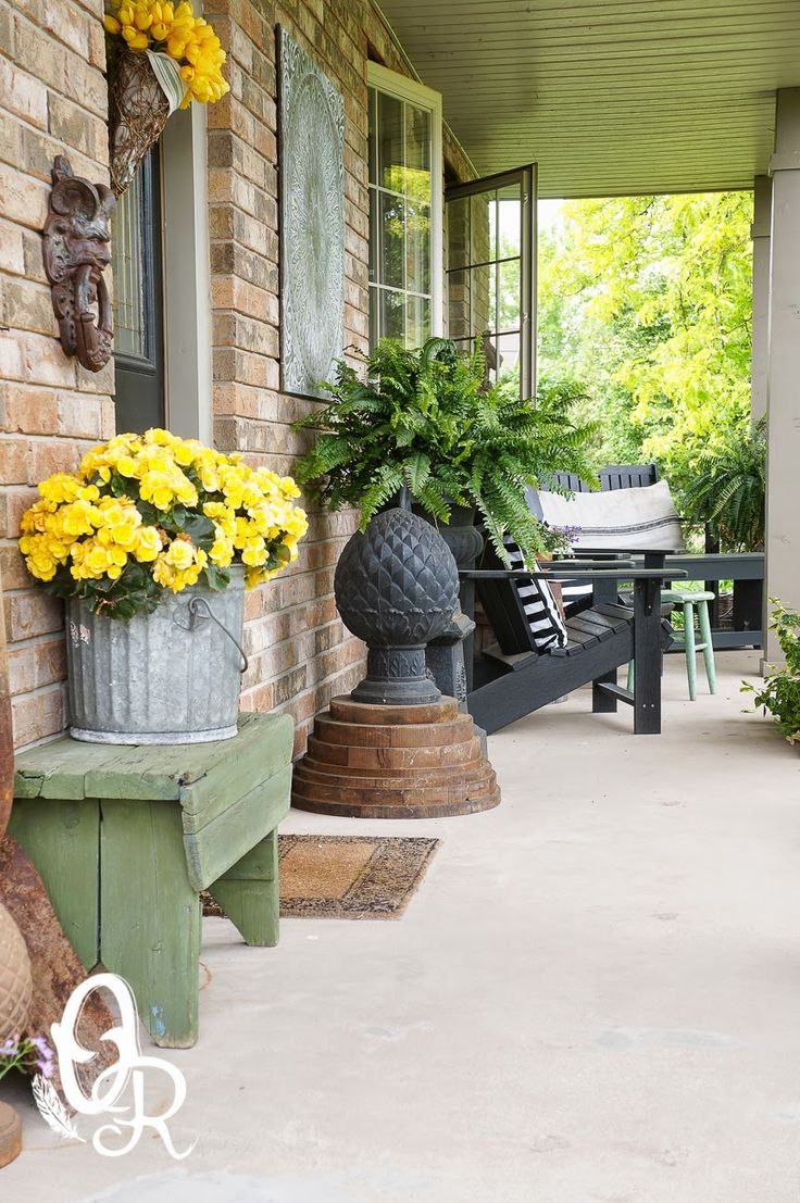The Oliver And Rust House Tour 2014 The Galvanized Bucket With The Yellow  Flowers On