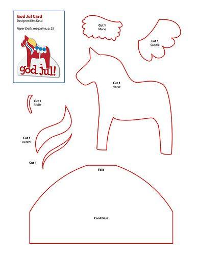 free Dala horse pattern