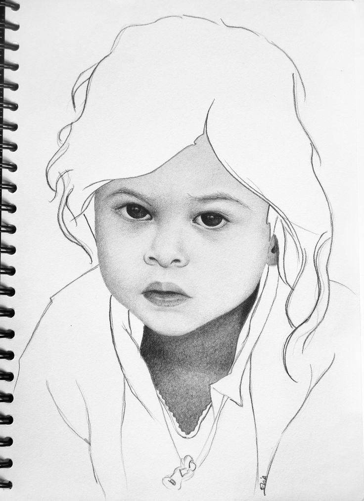 Primera prueba de retrato a lápiz