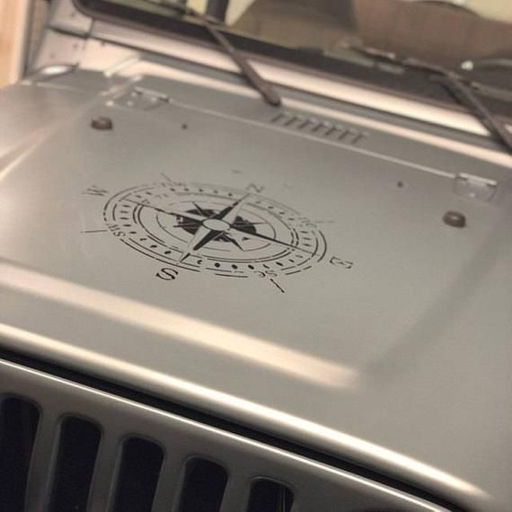 Jeep Wrangler Oscar Mike Distressed Style Compass Hood Vehicle Etsy Jeep Wrangler