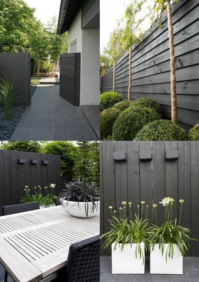 Check out this nice design idea for your garden in black and white