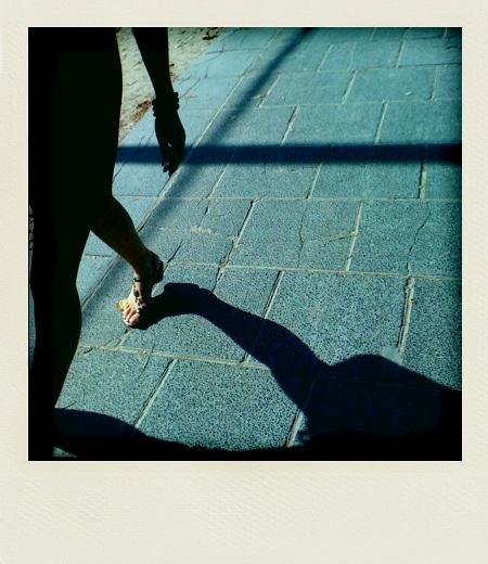 Walking down the Champs Elysées