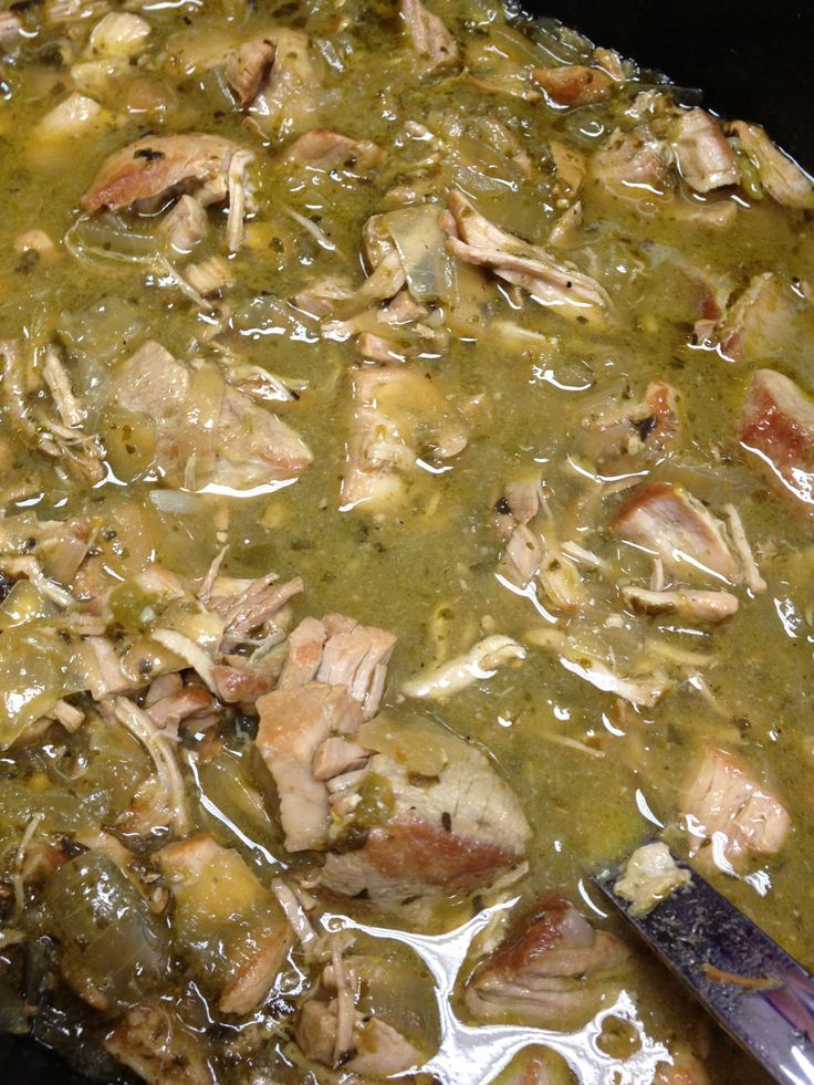 Easy traditional Chile Verde recipe with prep and cooking photos. Enjoy!