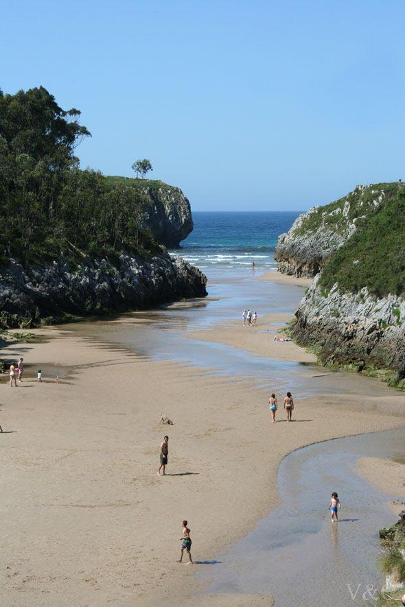 Playa de Guadamía, en el concejo de Llanes. un rincón precioso Astúrias