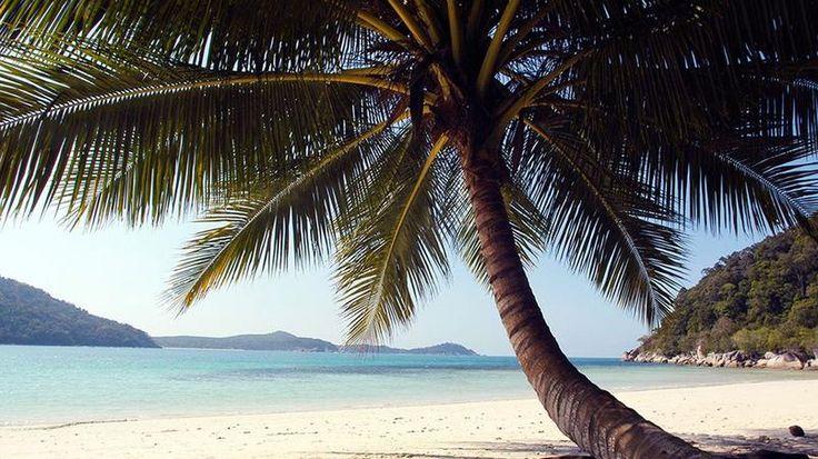 Iles Perhentian. Cet archipel flotte au large des côtes nord-est de la Malaisie et deux de ses îles accueillent les visiteurs. La carte postale, mer turquoise, eaux cristallines, plages blanches désertes, est au rendez-vous.
