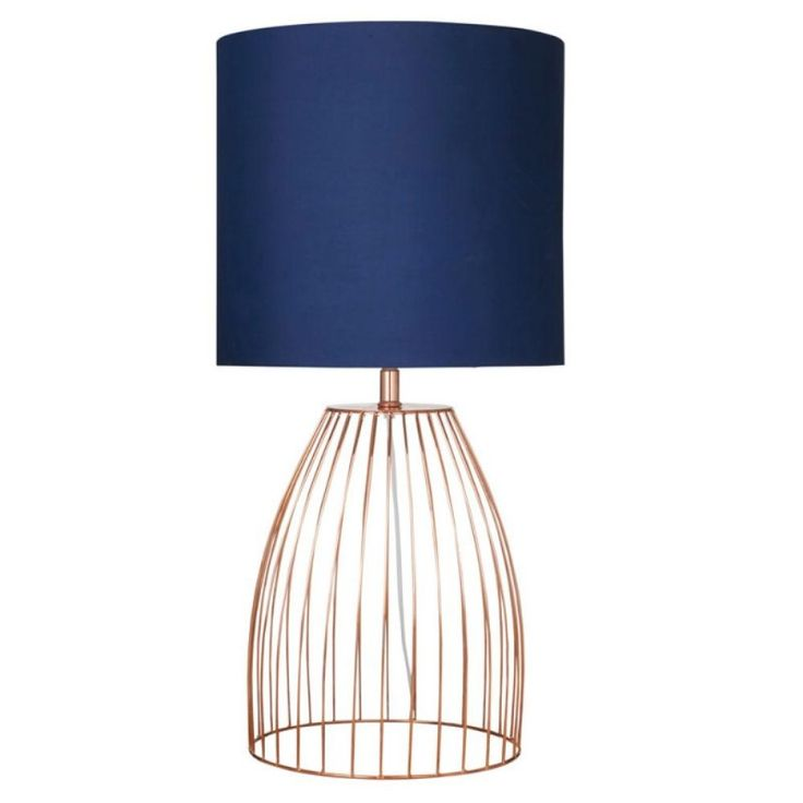 Jagger Table Lamp Navy Copper Lamps Pinterest