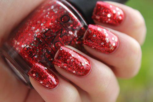 Red Glitter: Pink Sparkle, Nails Art, Pink Nails, Ruby Slippers, Red Glitter, Red Nails, Glitter Nails, Nails Polish, Holidays Nails