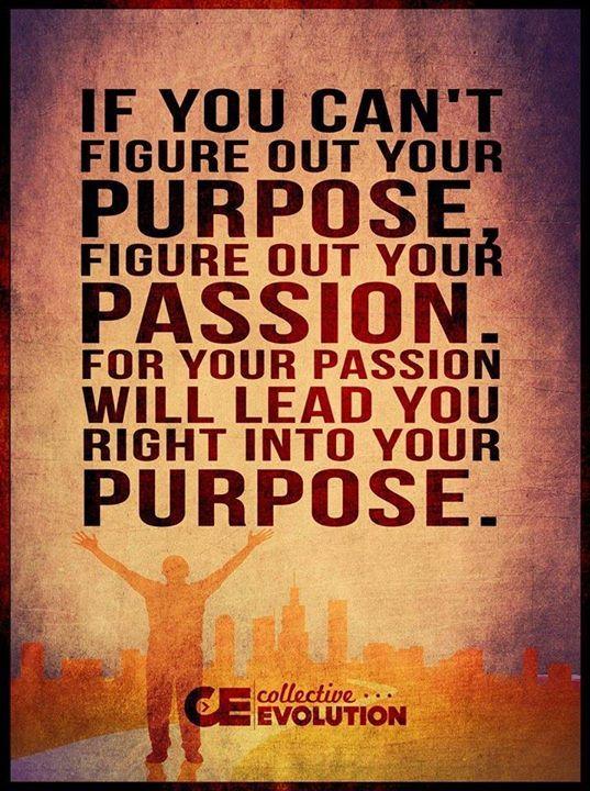 """目的がわからないなら、 何が自分の好きな事かを探そう。 その好きな事が、君の目的へまっすぐ引っ張ってくれるから。 passion 情熱=好きな事、打ち込める何かとも訳せますね。 passion 関連で、こんな言葉もあります。 """"Life is short. Live your dream and wear your passion."""" 人生は短い。情熱を身にまとって、自分の夢を生きよう。"""