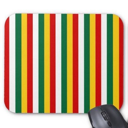 Suriname flag stripes lines pattern mouse pad - pattern sample design template diy cyo customize
