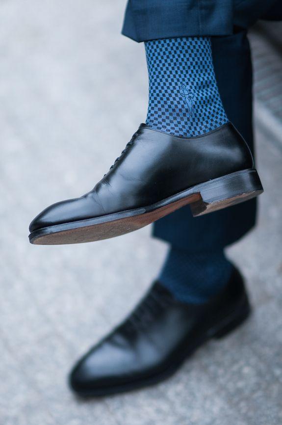 Granatowy garnitur   Gentlemen - YANKO