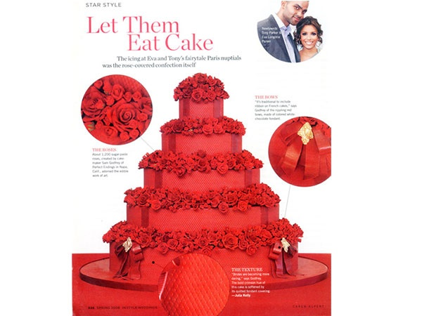 Bolo de casamento de Eva Longoria: Pound Cakes, Red Wedding Cakes, Weddings, Celebrity Wedding, Celebrity Cakes, Eva Longoria, Red Rose, Cakebold Colors, Tony Parker