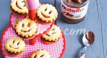 Печенье смайлики с нутеллой