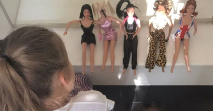 Victoria Beckham's Daughter Harper Plays with Spice Girls Dolls and Learns About Mom's Pop Star Past