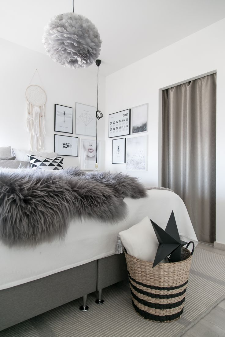 Modern bedroom with boho and nordic features. Handmade dreamcatcher. #dreamcatcher