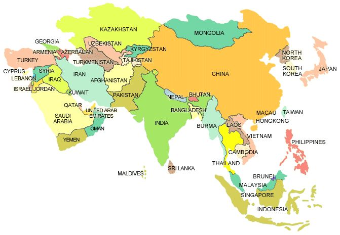 Countries Under Asia ~ CVLN RP
